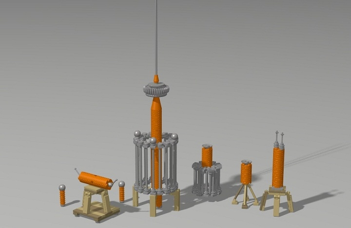 LEGO MOC - Because we can! - Nikola Tesla. Colorado Springs experiments