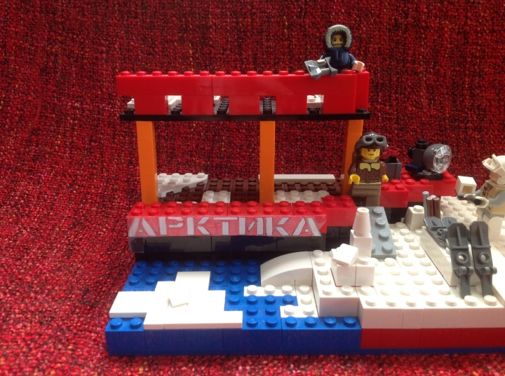 LEGO MOC - Because we can! - First expedition of NS Arktika to the North: На 2 фото ледокол ' Артика ' .