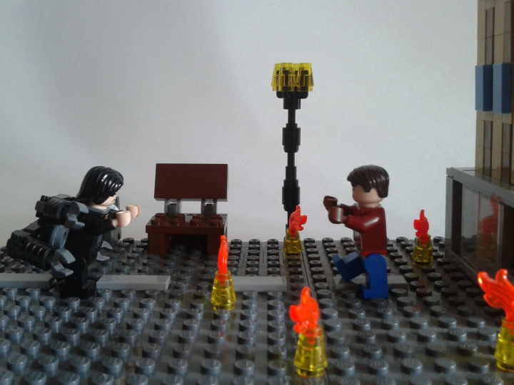 LEGO MOC - Heroes and villians - Dr. Octopus Attacks