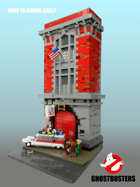 LEGO MOC - Heroes and villians - Ghostbuster's firehouse!