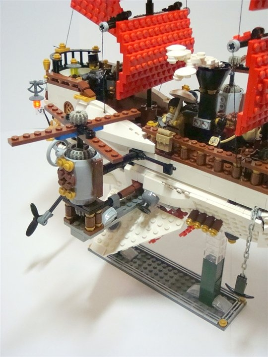 LEGO MOC - Steampunk Machine - Steampunk styled 'Scarlet Sails': Винты