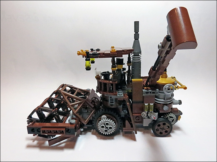 LEGO MOC - Steampunk Machine - Steampunk Harvester: Пых-пых-пых!