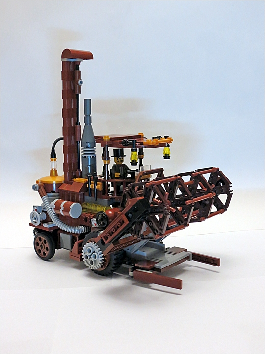 LEGO MOC - Steampunk Machine - Steampunk Harvester: В дежурном состоянии.