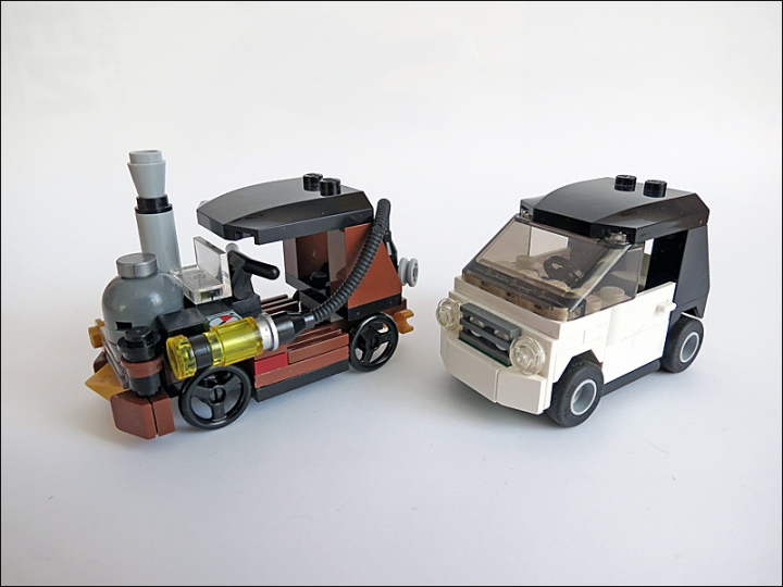 LEGO MOC - Steampunk Machine - Car 3177 SteamPunk Edition :): В сравнении с оригиналом