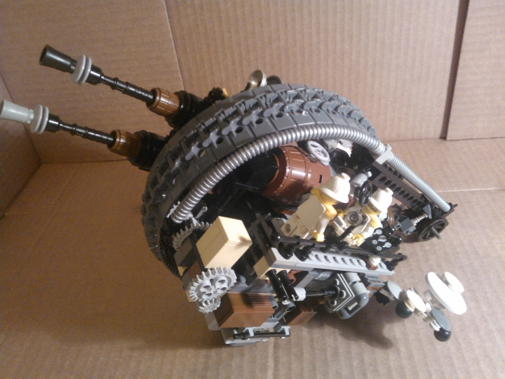LEGO MOC - Steampunk Machine - Shock self-propelled gun: без 1 колеса.