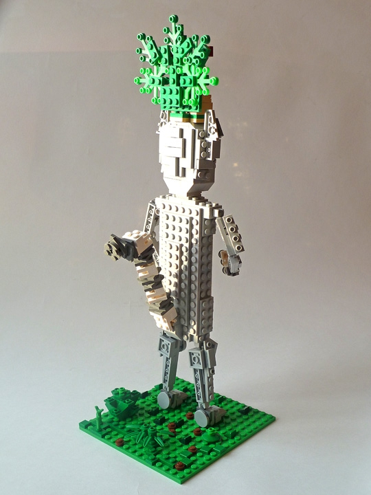 LEGO MOC - 16x16: Animals - Lemur King Julien: Вид сзади