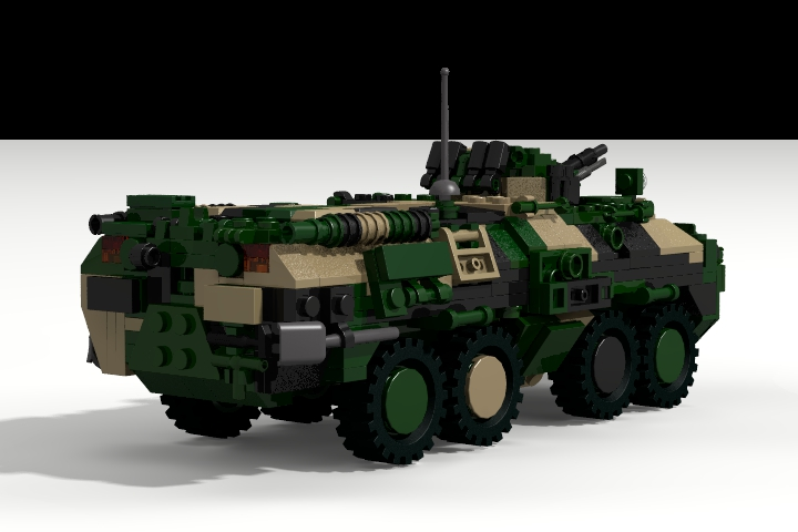 LEGO MOC - LDD-contest '20th-century military equipment‎' - BTR-80