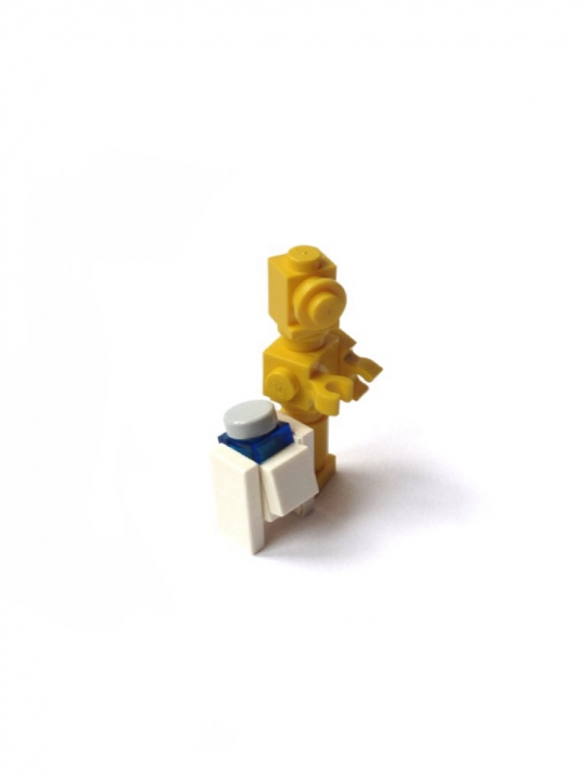 LEGO MOC - Battle of the Masters 'In cube' - Jabba the Hutt. Star wars episode VI. Return of the Jedi : R2d2 и 3р0