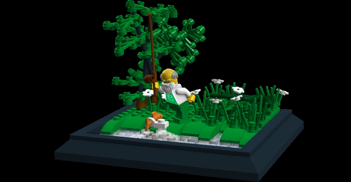 LEGO MOC - Russian Tales' Wonders - The Tale of the Fisherman and the Fish: The entire MOC.