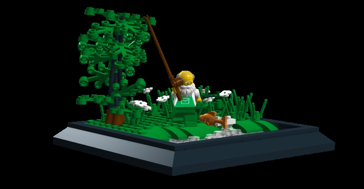 LEGO MOC - Russian Tales' Wonders - The Tale of the Fisherman and the Fish: The MOC from another angle.