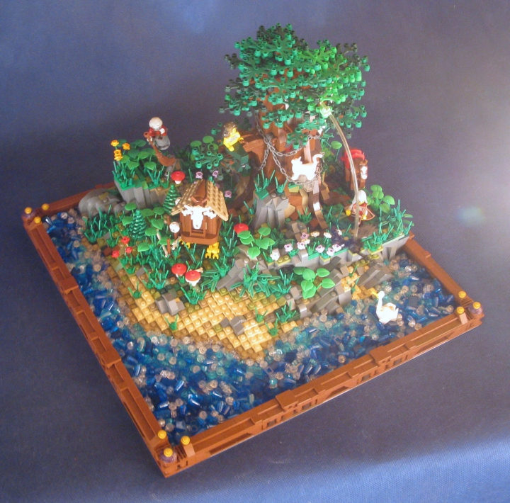 LEGO MOC - Russian Tales' Wonders - A green oak-tree by the lukomorye: Вот и всё, надеюсь вам понравилось;)